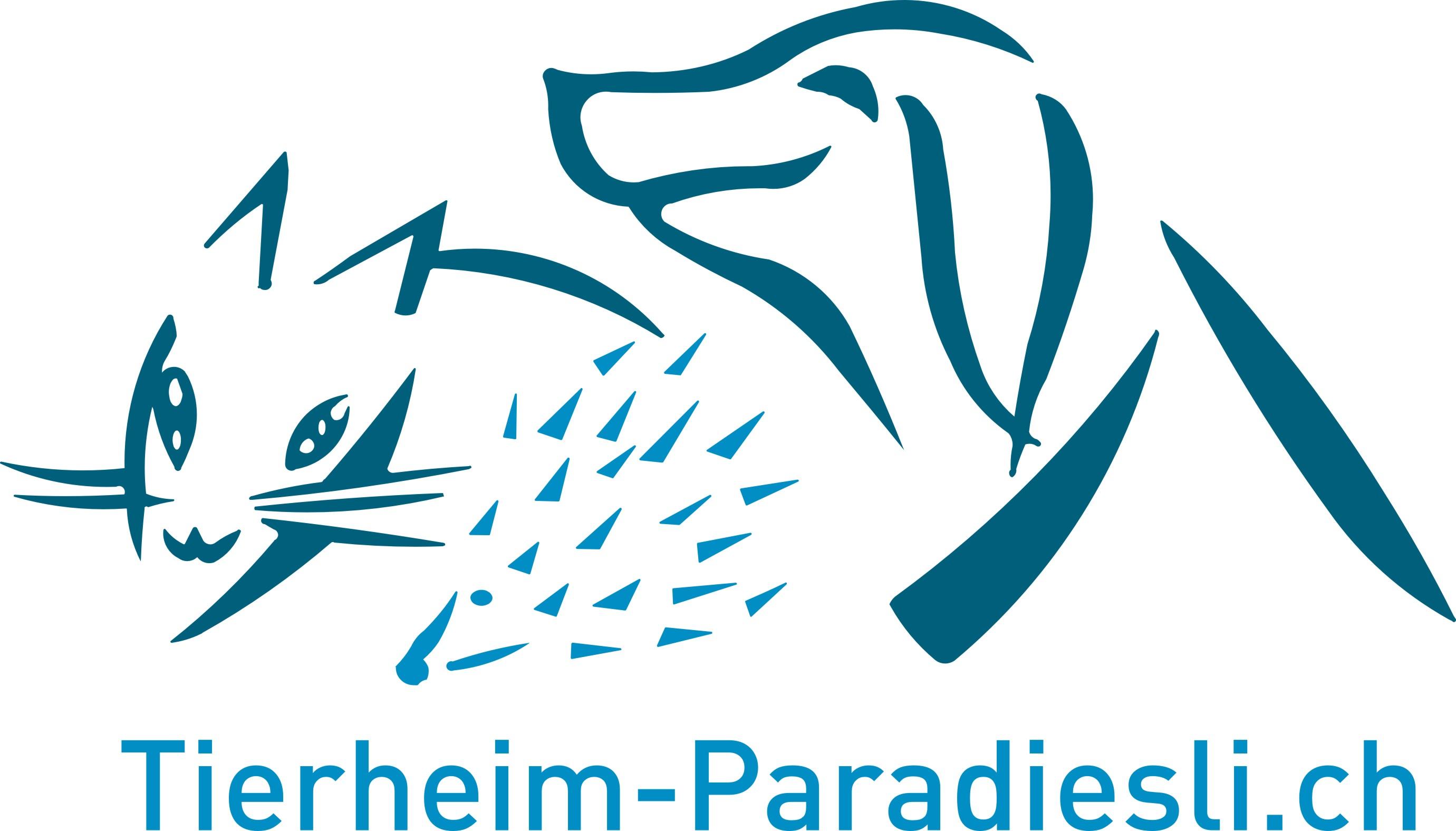 neues Logo Tierheim Paradiesli blau